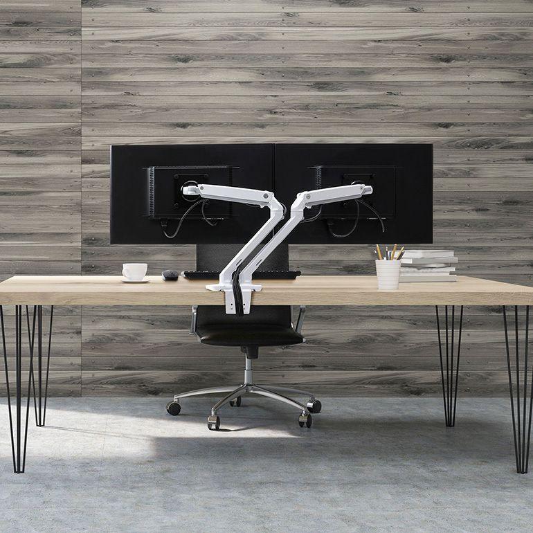 MXV dual flatscreenarm bureau