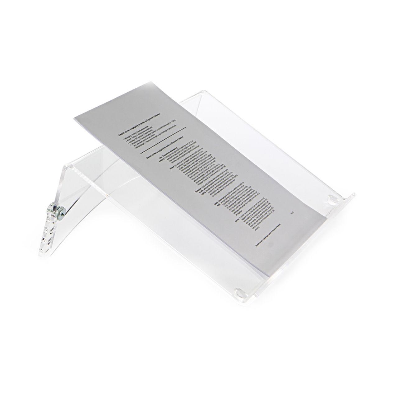 Flexdesk helder documentenhouder ERKAFDH42 0000 Zijkant