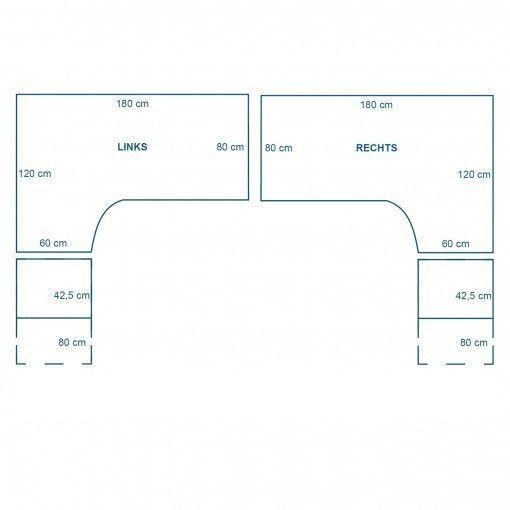 Ergodesk E2+ elektrisch verstelbaar hoekbureau