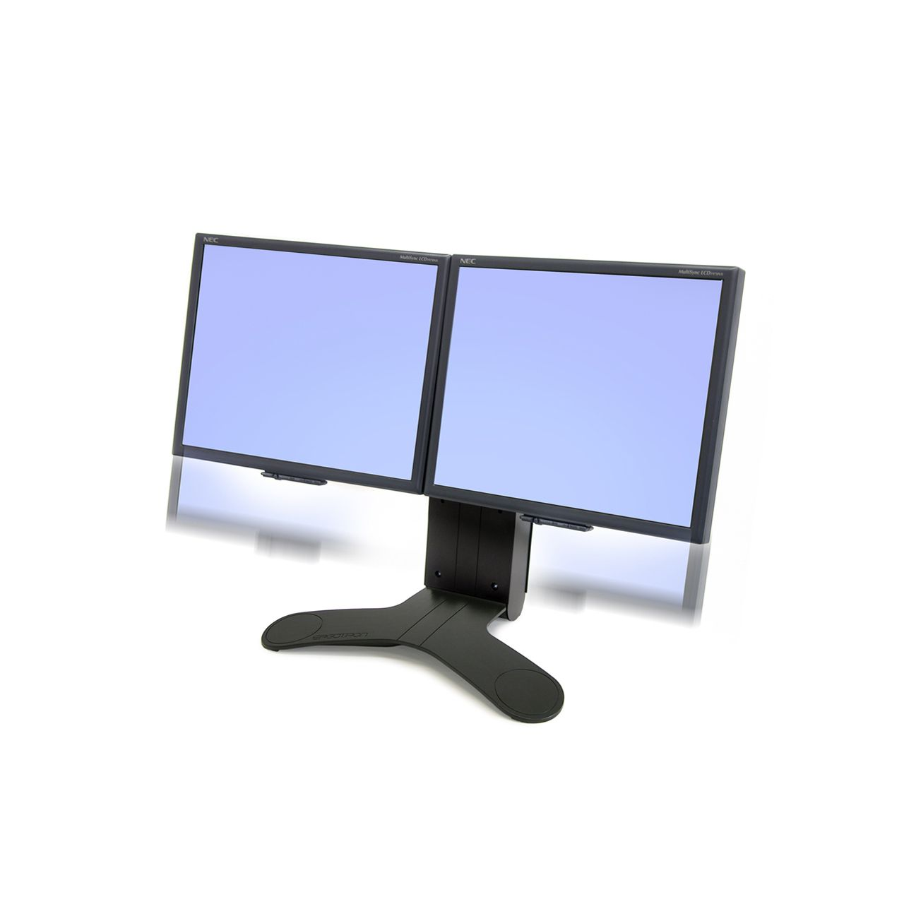 dual lcd stand-flatscreenarm monitorsteun ERKALCD202 Voorkant