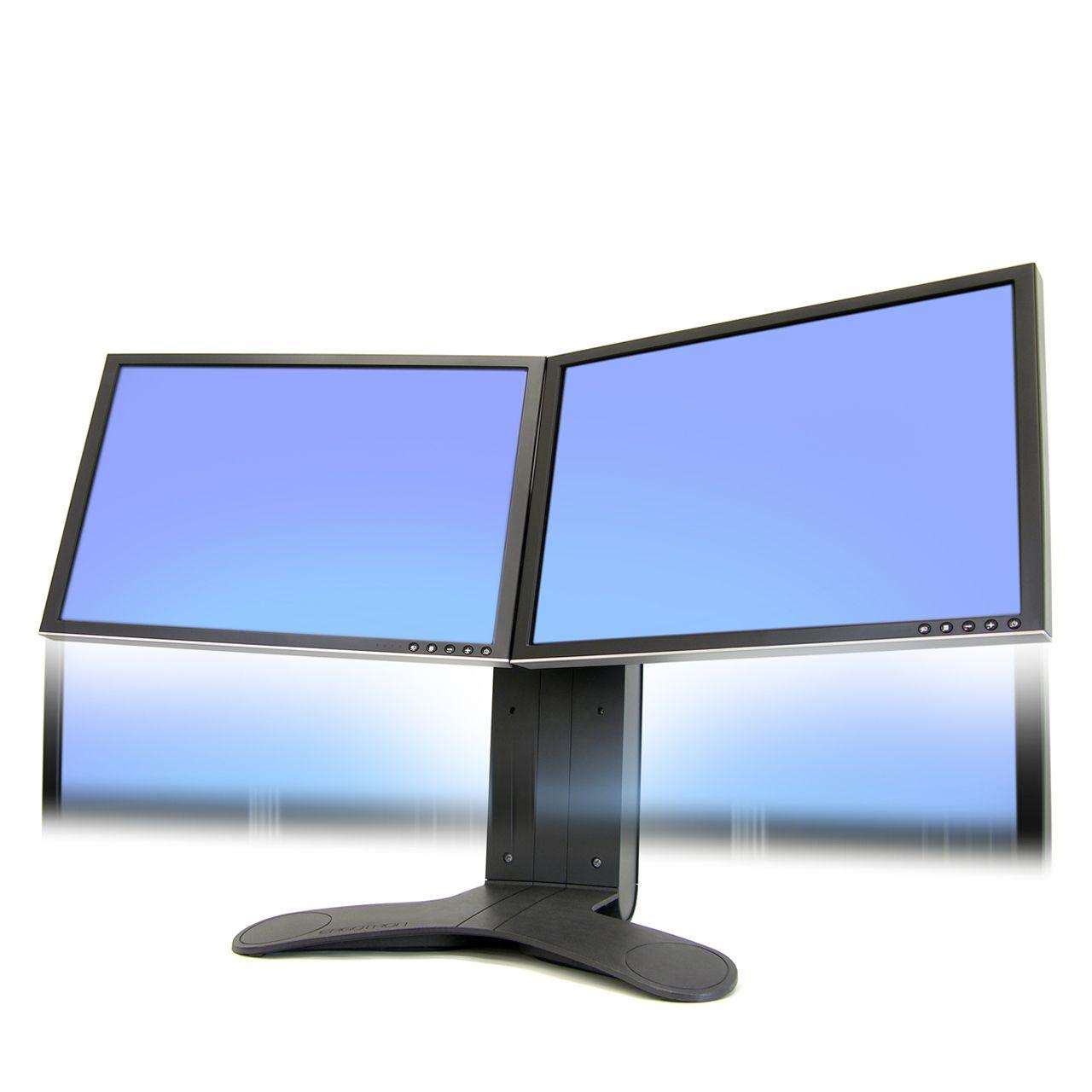 dual lcd stand flatscreenarm monitorsteun ERKALCD202 Voorkant