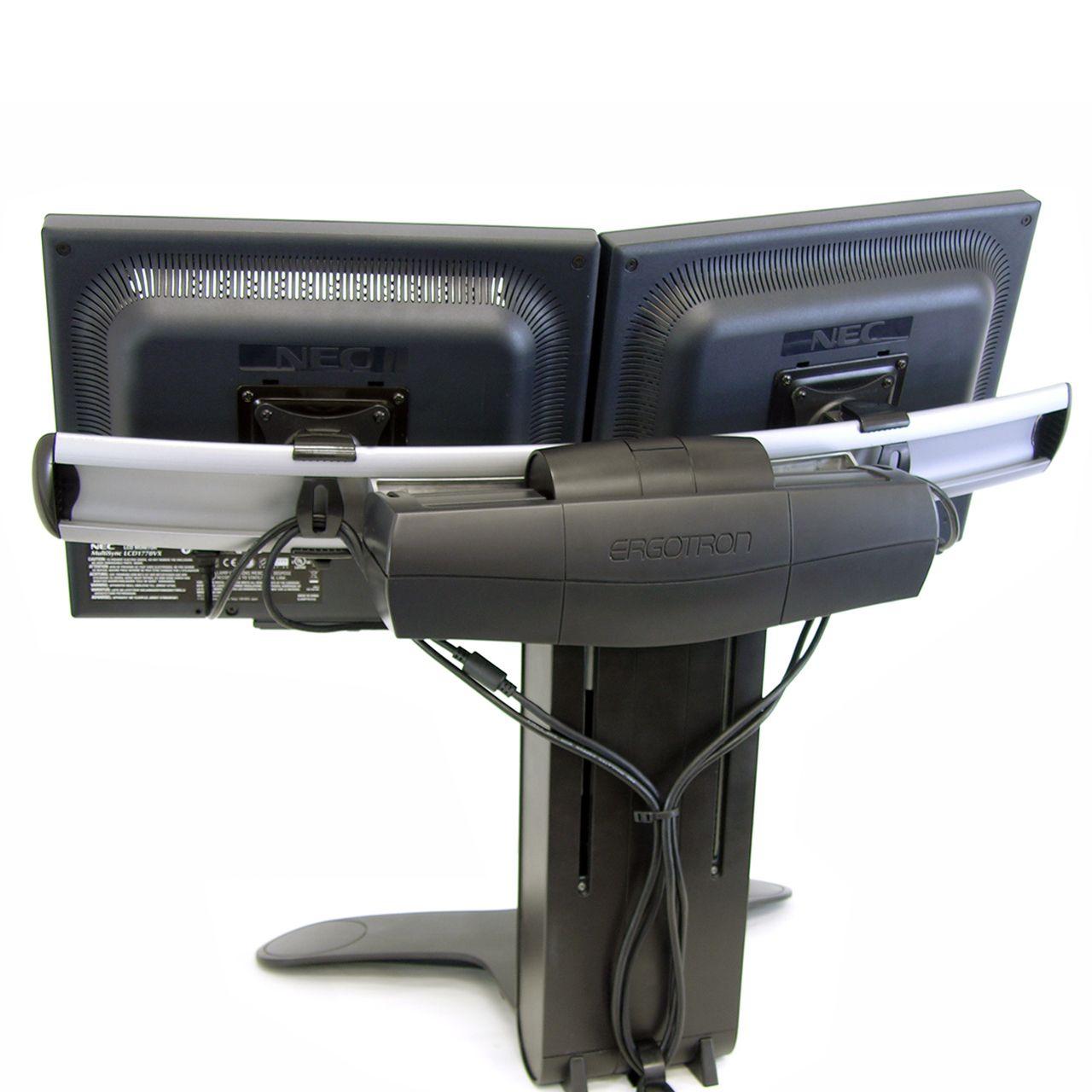 dual lcd stand flatscreenarm monitorsteun ERKALCD202 Achterkant