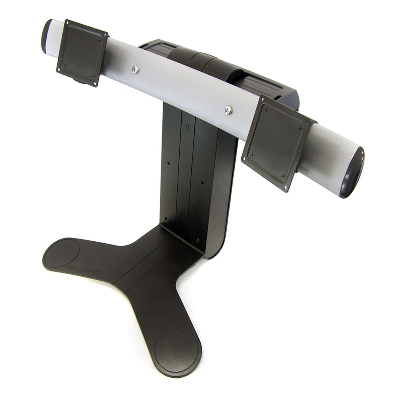 dual lcd stand flatscreenarm monitorsteun ERKALCD202 Schuin