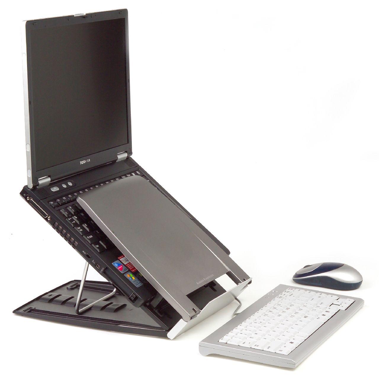 ergo q 330 laptophouder ERKAQ3365 Zijkant met laptop