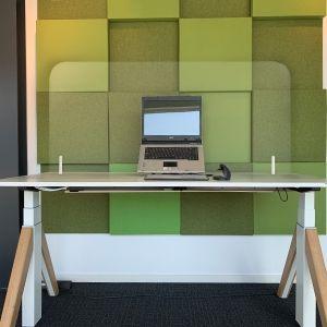 Ergowork vrijstaand scherm - plexiglas - staand
