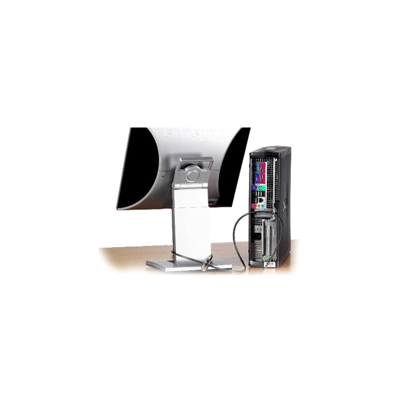 flatscreen en cpu antidiefstal kabels en veiligheid ERKAKAB302 Voorkant
