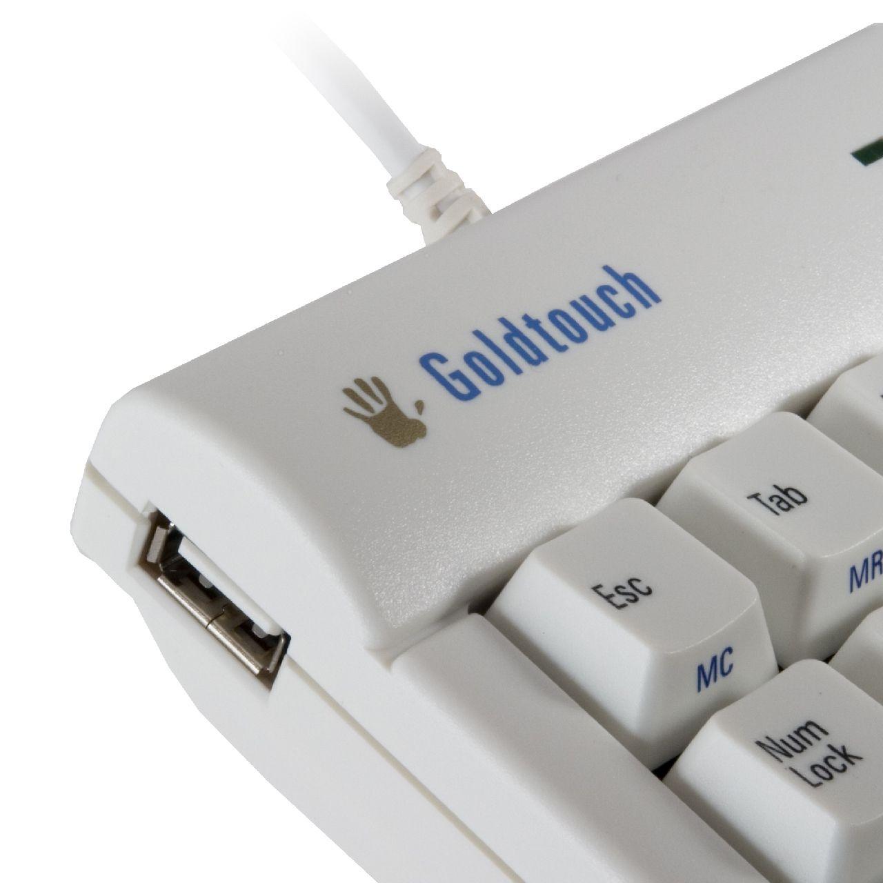 bakker elkhuizen goldtouch numeriek toetsenbord wit ERKAGOI301 product