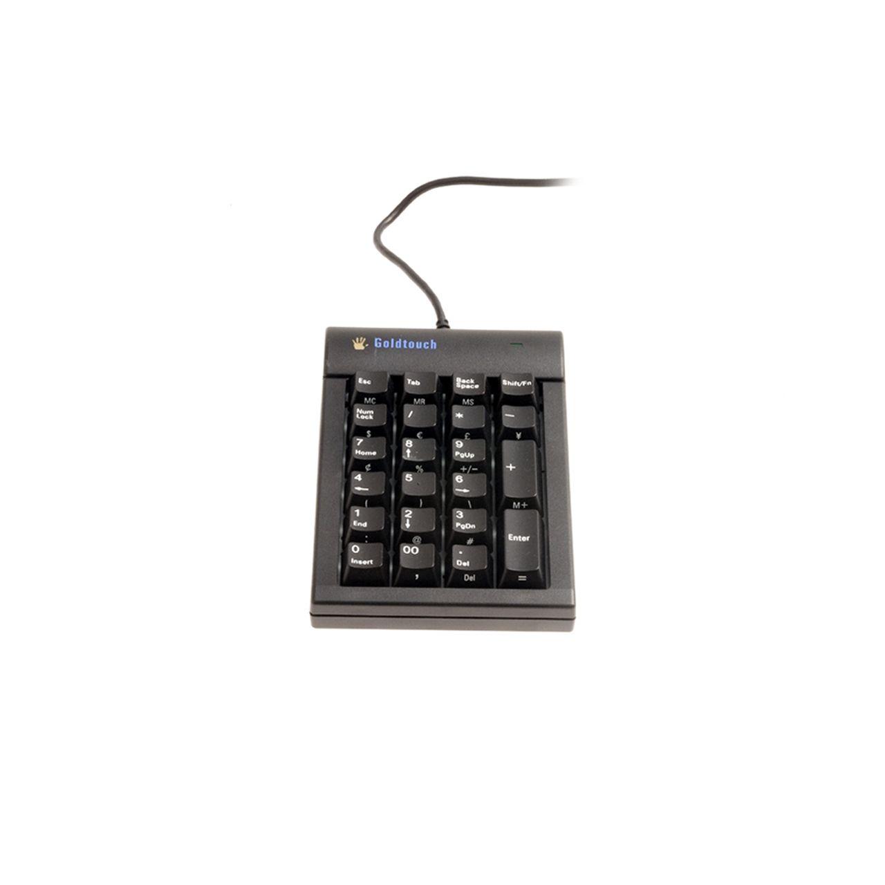 goldtouch nummeriek toetsenbord bedraad ERKAGOI301 Voorkant Zwart