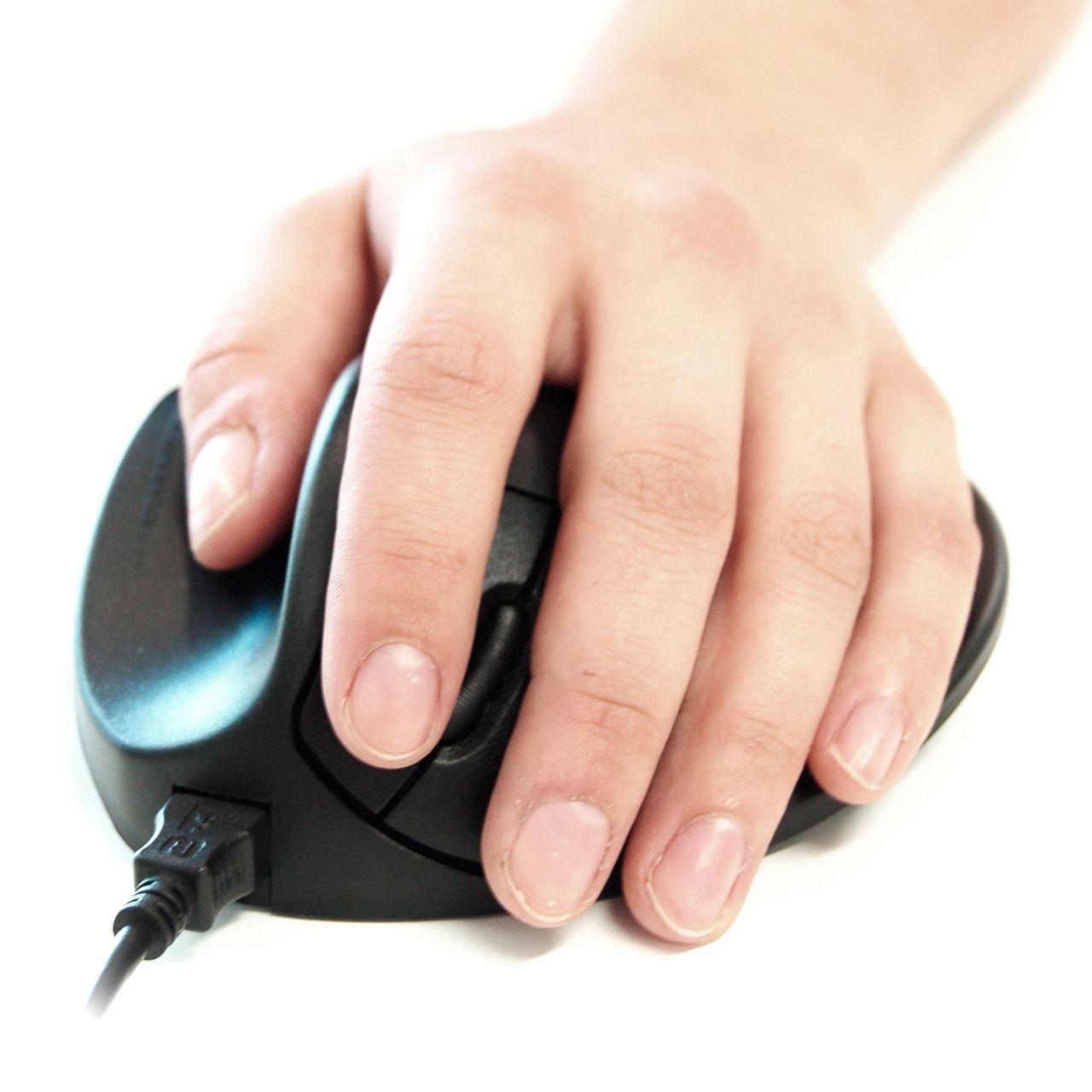 handshoe mouse medium muis bedraad links Voorkant Hand