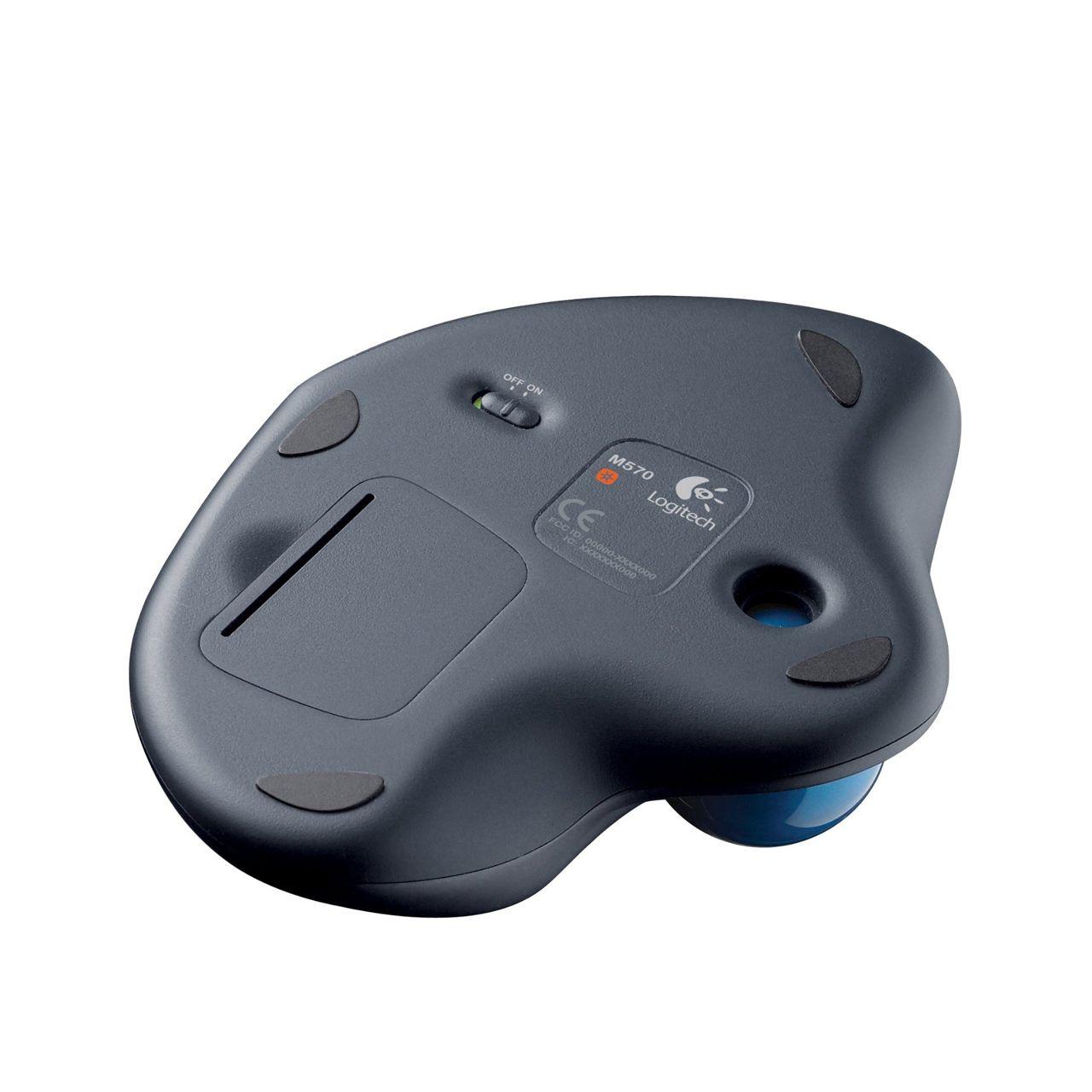 Logitech Wireless Trackball M570 ERKALOG303 onderkant