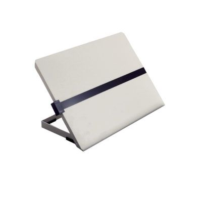 Metalen concepthouder met liniaal