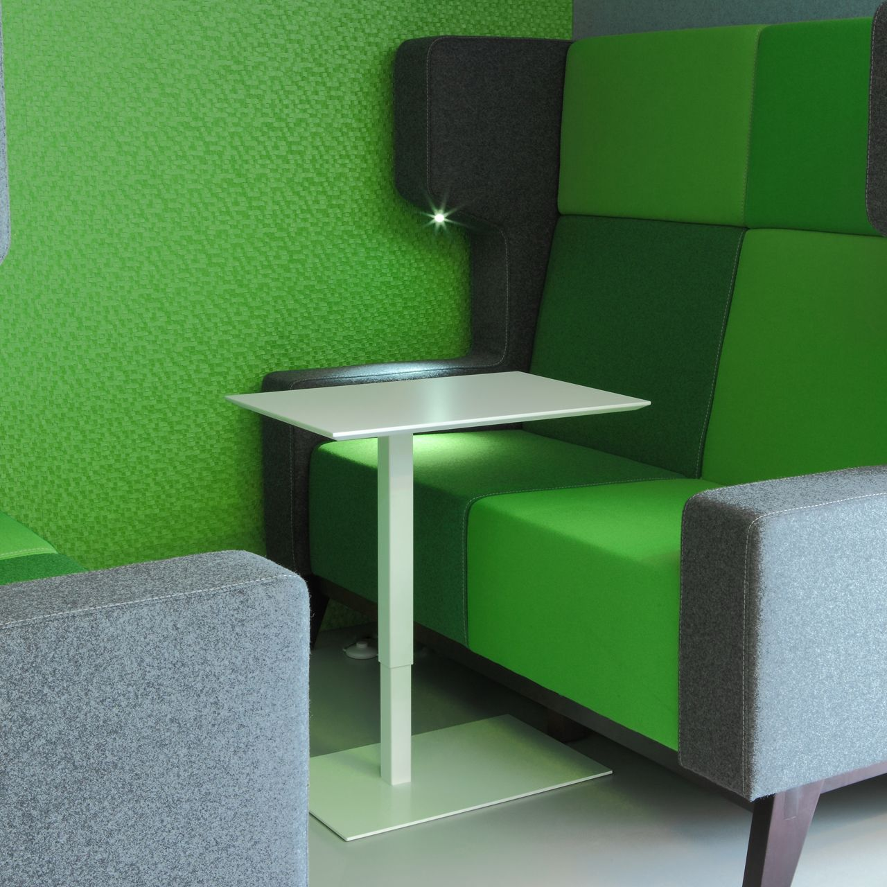 modulair akoestisch meubilair ingebouwde verlichting