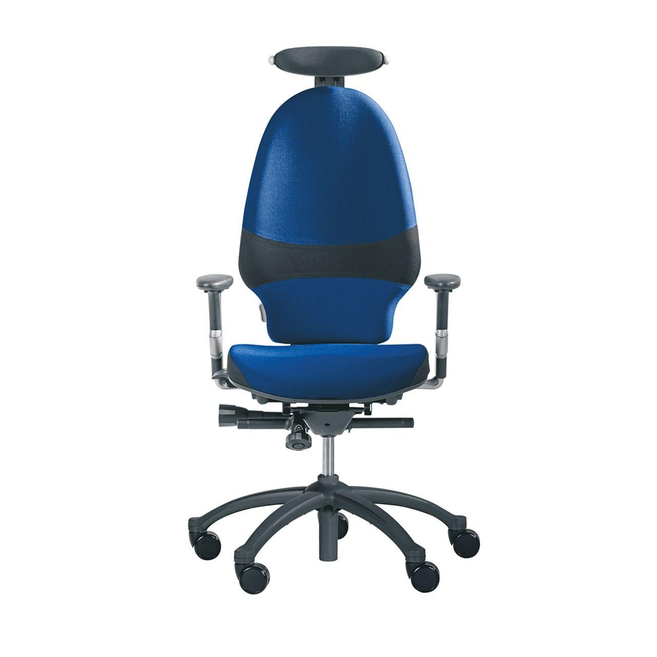 rh exrh extend large 220 bureaustoel STKAEXT203 Blauw Voorkant met neksteun