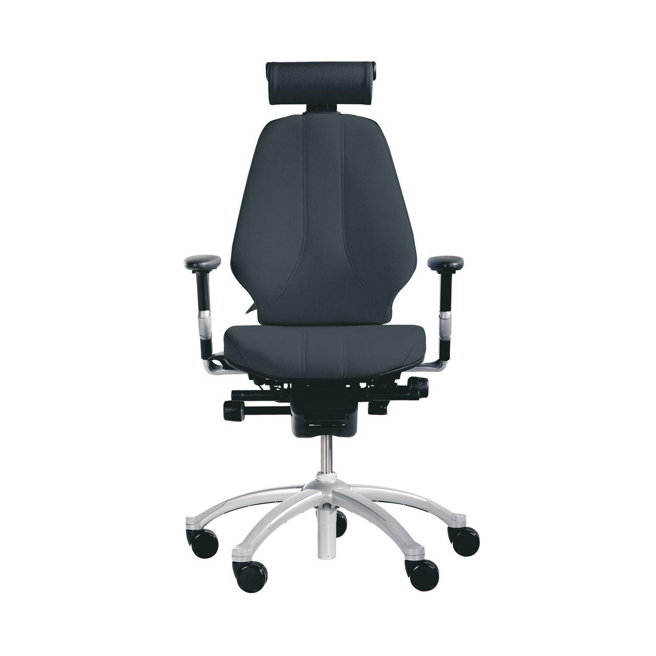 rh logic 300 xl bureaustoel STKALOG303 zwart met neksteun