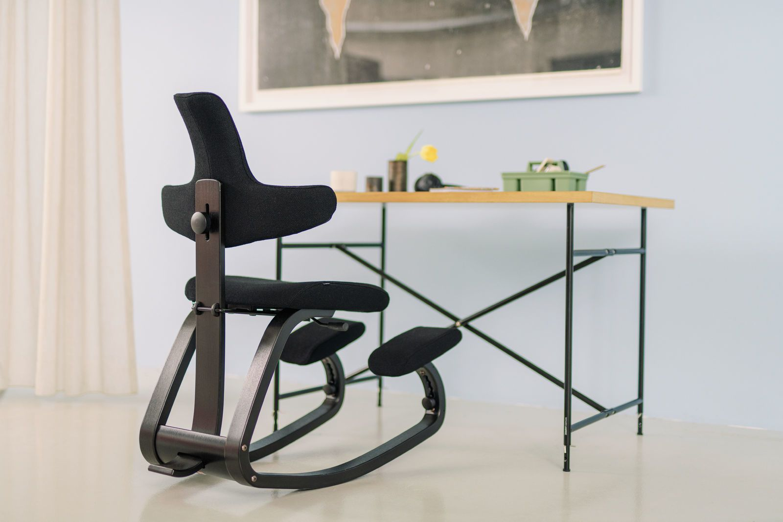 Stokke Thatsit Bureaustoel.Varier Stokke Thatsit Kniestoel Met Rug Health2work